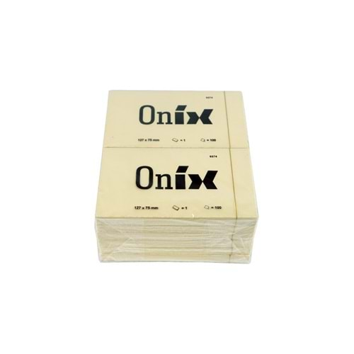 ONIX POST İT 127X75MM 100 YAPRAK TEKLİ PAKET
